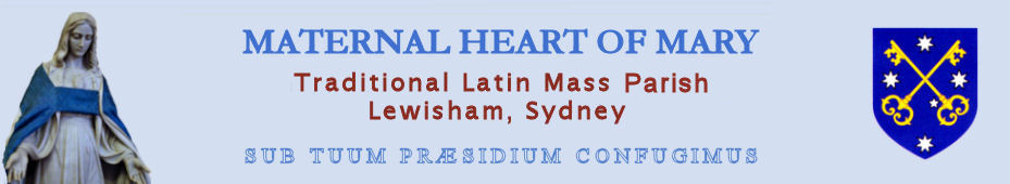 The Mission of the Maternal Heart of Mary Traditional Latin